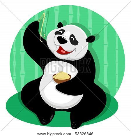 Panda With Noodles