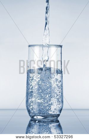 Water Pouring In Glass