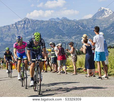The Cyclists Jose Joaquin Rojas  And Przemyslaw Niemiec