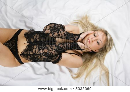 Beautiful Blonde In Bed