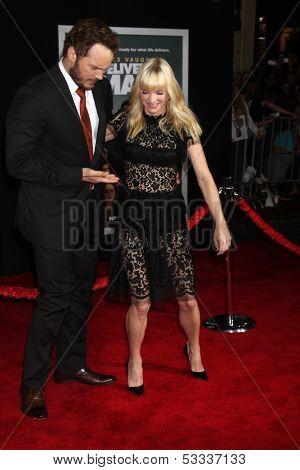 LOS ANGELES - NOV 3:  Chris Pratt, Anna Faris at the