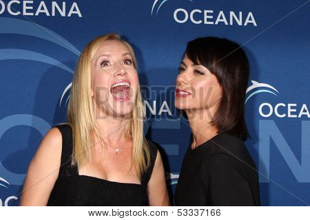 LOS ANGELES - OCT 30:  Angela Kinsey, Constance Zimmer at the Oceana's Partners Awards Gala 2013 at Beverly Wilshire Hotel on October 30, 2013 in Beverly Hills, CA