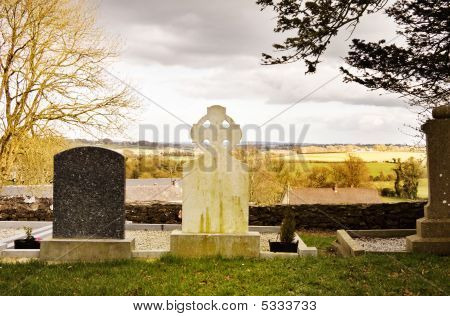 Mystic Ireland - View Over The Old Graveyard On Tara Hill
