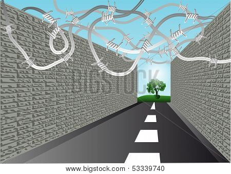 Street With Barbed Wire