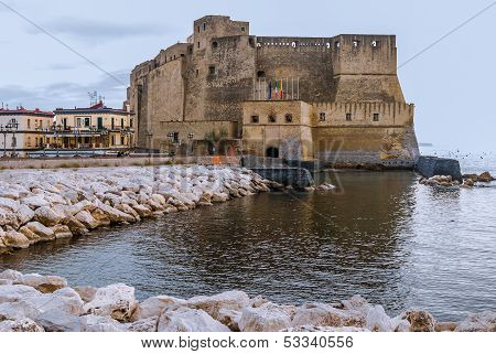 Castel dell'Ovo (Egg Castle) from Naples, Italy