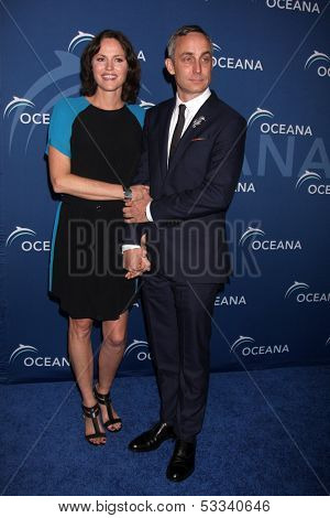 LOS ANGELES - OCT 30:  Jorja Fox, Wallace Langham at the Oceana's Partners Awards Gala 2013 at Beverly Wilshire Hotel on October 30, 2013 in Beverly Hills, CA