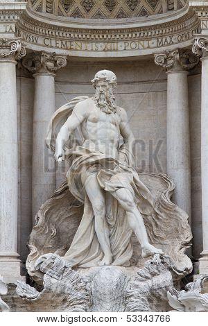 Oceanus In The Fontana Di Trevi