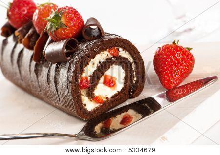 Chocolate & Strawberry Gateaux