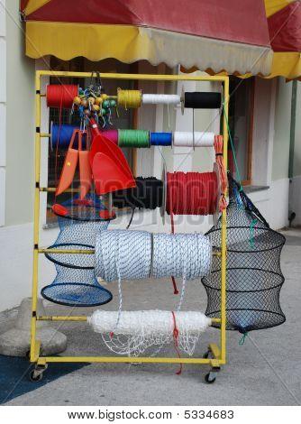 Fishing Supplies Display