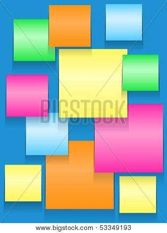 Sticky Squares Of Different Colors
