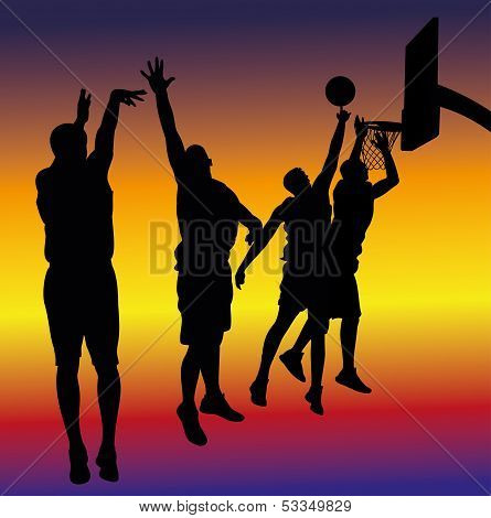 streetball - basketball background