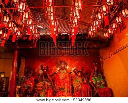 Chinese Gods Lanterns Man Mo Temple  Hong Kong