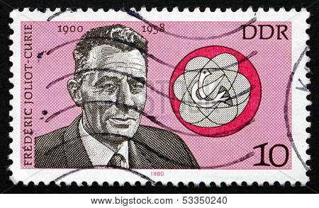Postage Stamp Gdr 1980 Frederic Joliot-curie, French Physicist