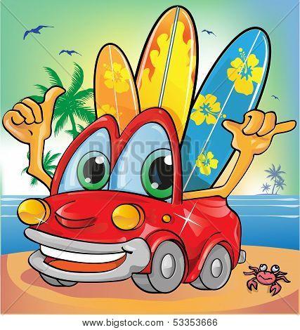 Summer Time Car Cartoon