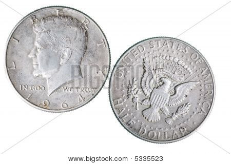 Coin With Kennedy Portrait