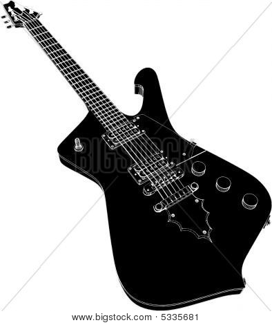 picture or photo of electric rhythm guitar music instrument illustration vector. Black Bedroom Furniture Sets. Home Design Ideas