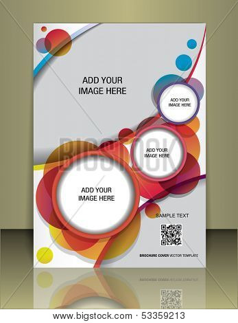 Vector  brochure or magazine cover  template