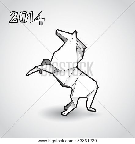 Oriental origami New year horse.