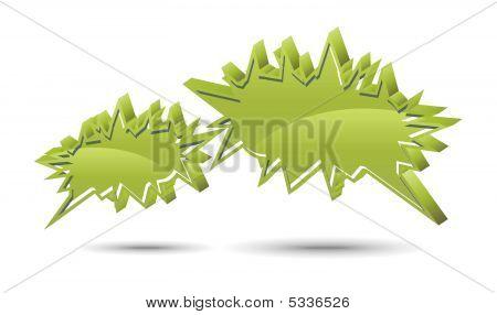 Chat Box. Green