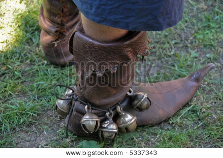 Medieval Boots With Bells