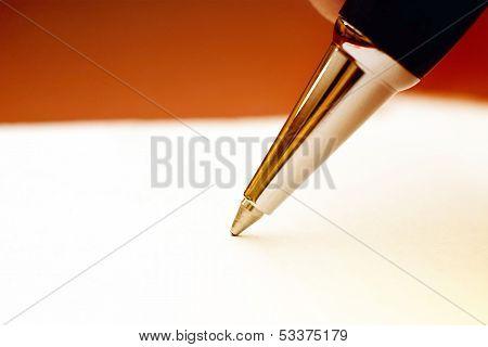 Ballpoint Pen, Macro Shot