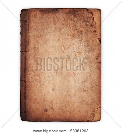 Really old book,isolated on white.