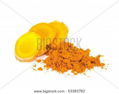Tumeric And Tumeric  Powder.