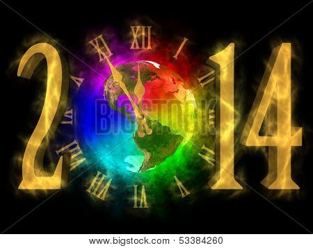 Happy new year 2014 - America