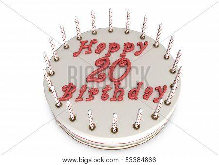 Cream Pie For 20Th Birthday