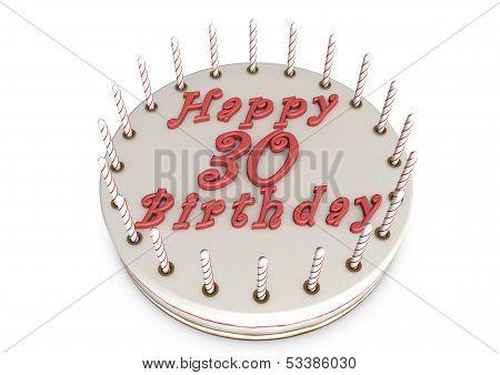 Cream Pie For 30Th Birthday