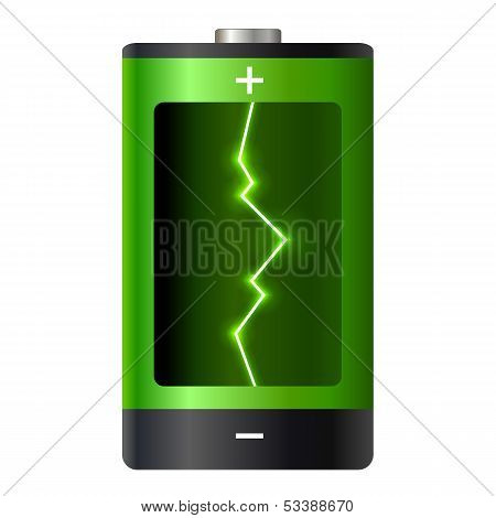 Concept Battery Power. Vector Illustration.