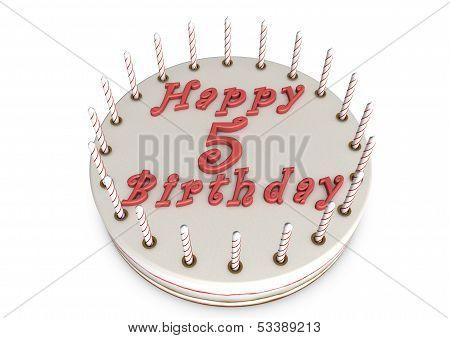 Cream Pie For 5Th Birthday