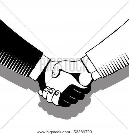 Handshake In Gray Tones