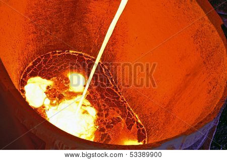 Pouring Of Liquid Metal