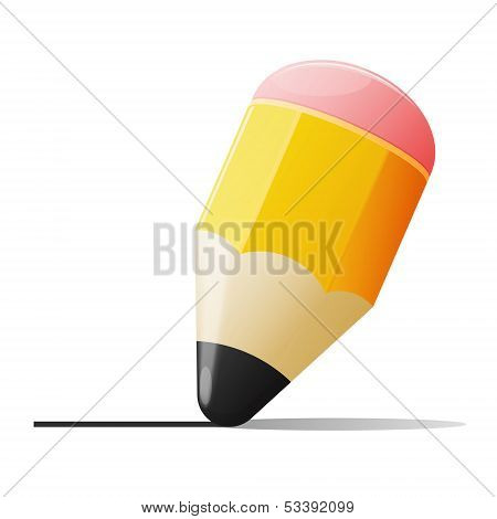 Vector Illustration Of Graphite Pencil
