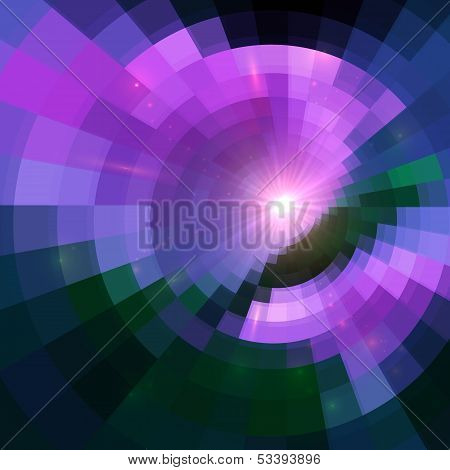 Violet abstract circle tiled vector background