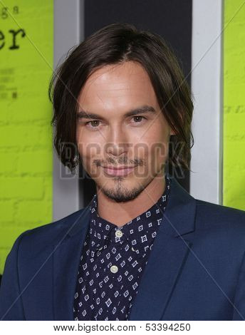 LOS ANGELES - SEP 10:  Tyler Blackburn arrives to the