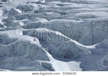 Detail Of A Glacier