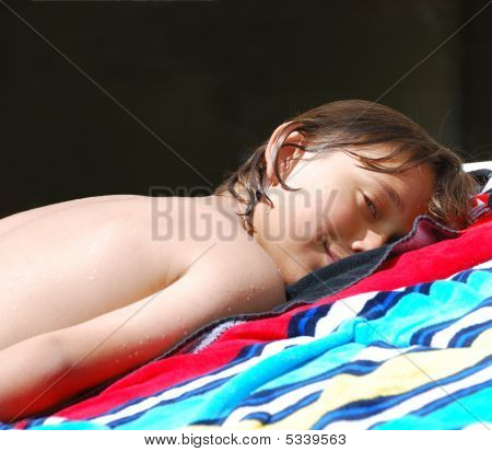 Teen Sunbathing