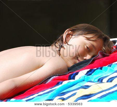 Teen Sunbathing