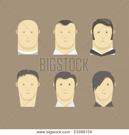 Different men faces style