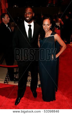 NEW YORK-SEP 17: Football player Justin Tuck and wife Lauran Williamson Tuck attend the 14th annual New Yorkers For Children Fall Gala at Cipriani 42nd Street on September 17, 2013 in New York City