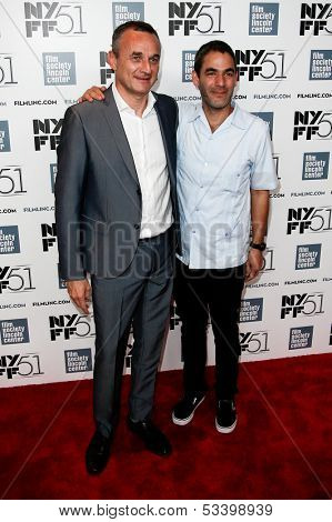 NEW YORK-OCT 1: Producer Christian Valdelievre and director Fernando Eimbcke  attend the 'Jimmy P: Psychotherapy Of A Plains Indian' premiere at Alice Tully Hall on October 1, 2013 in New York City.