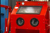 picture of sandblasting  - Sandblasting cabinet in auto repair garage service
