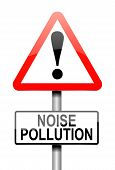 image of noise pollution  - Illustration depicting a sign with a noise pollution concept - JPG
