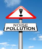 stock photo of noise pollution  - Illustration depicting a sign with a noise pollution concept - JPG