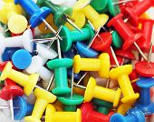 Colorful Push Pin Background