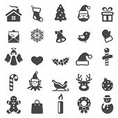 stock photo of christmas angel  - Christmas icons set - JPG