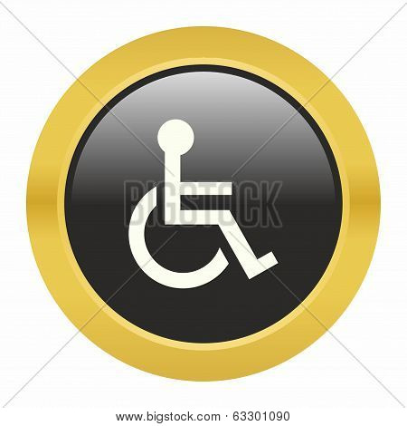 Handicap or wheelchair person icon