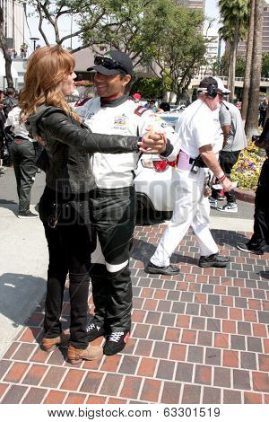 LOS ANGELES - APR 12:  Corbin Bleu, Amy Purdy at the Long Beach Grand Prix Pro/Celeb Race Day at the Long Beach Grand Prix Race Circuit on April 12, 2014 in Long Beach, CA